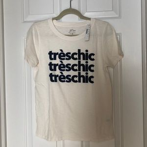 Jcrew Tres Chic graphic tee, Medium, NWT
